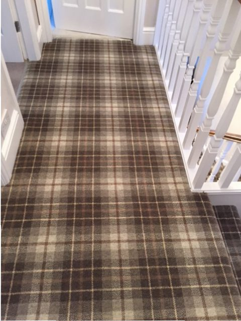 Hugh Mackay Tartan Carpet on a landing